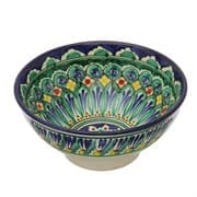 Коса для первых блюд Риштанская Керамика малая d-14,5 см. h-7 см. синяя