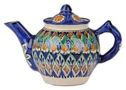 Чайник заварочный Риштанская Керамика 0.7 л. синий